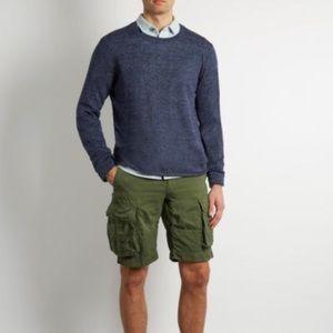 Vince Navy Lightweight Linen Pullover Sweater